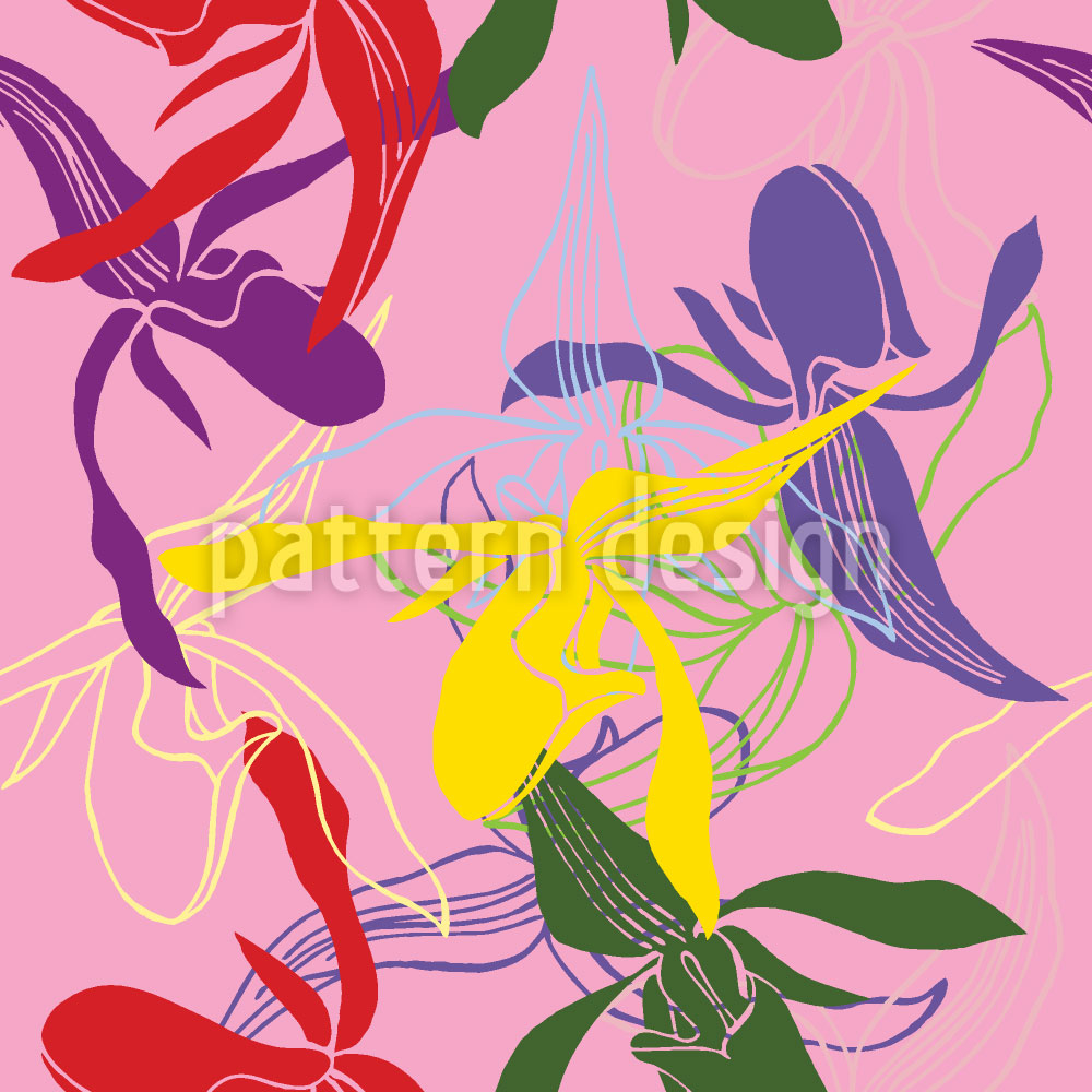 Designtapete Orchidee Color