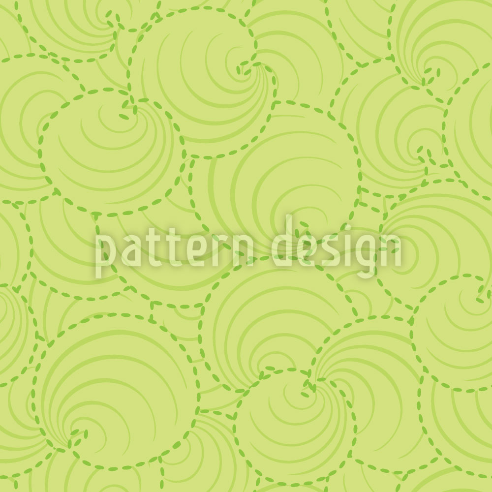 Designtapete Runde Blätter