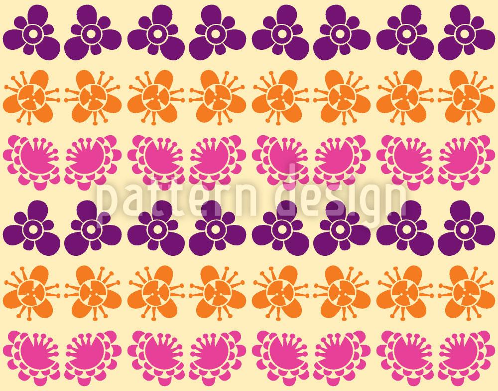 Designtapete Japanische Blüten