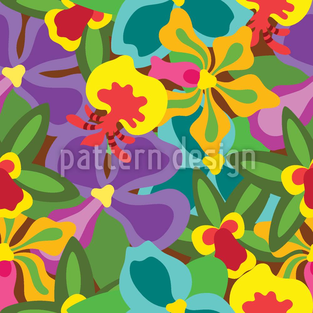 Designtapete Bunte Orchideen