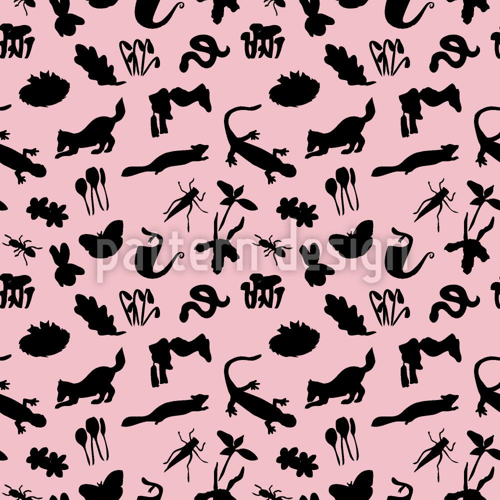 Designtapete Kleine Tierwelt