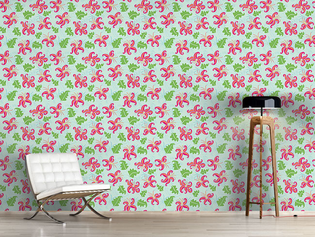 Designtapete Pink Lily
