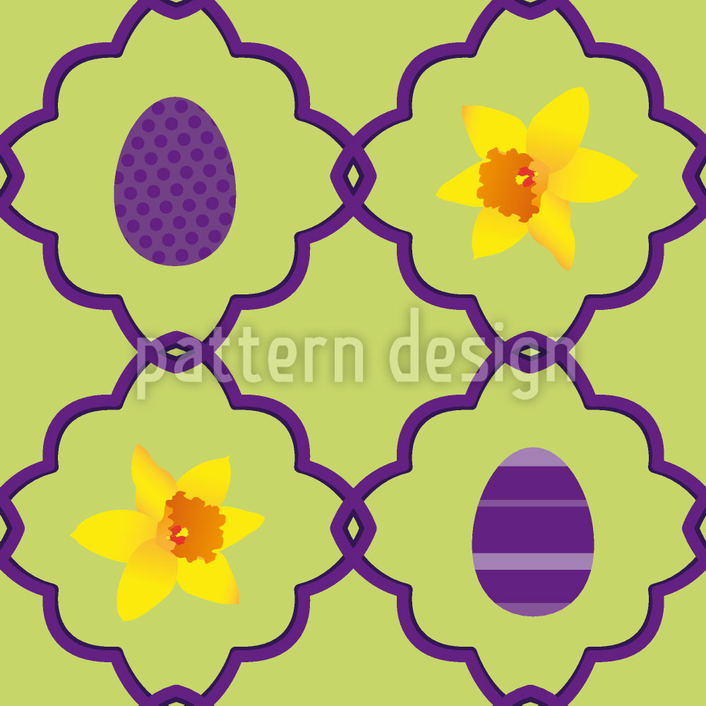 Designtapete Narzissen Zu Ostern