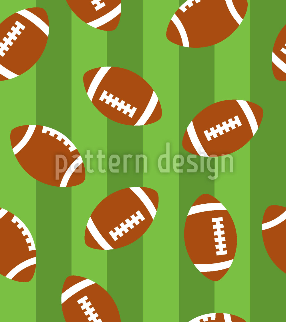 Designtapete Football Grün