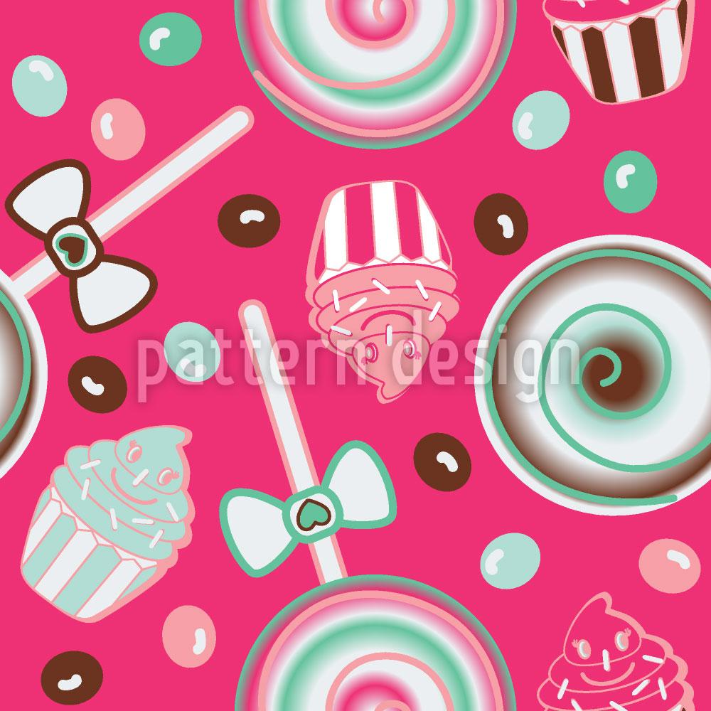 Designtapete Cookidoo Pink
