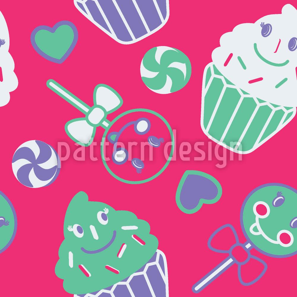 Designtapete Happy Desserts Pink
