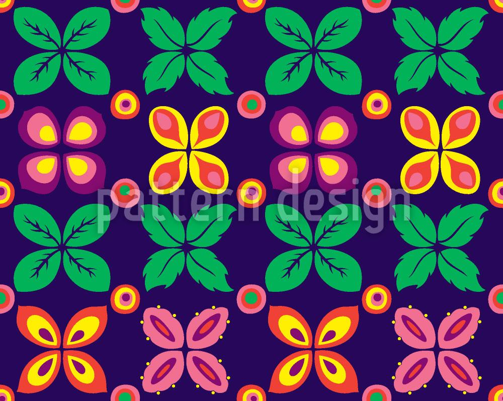 Designtapete Rund Im Blumengrund