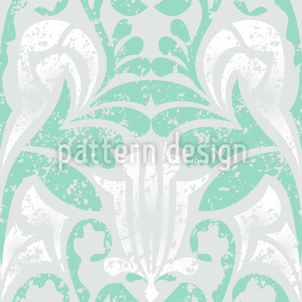 Designtapete Damasko Grün