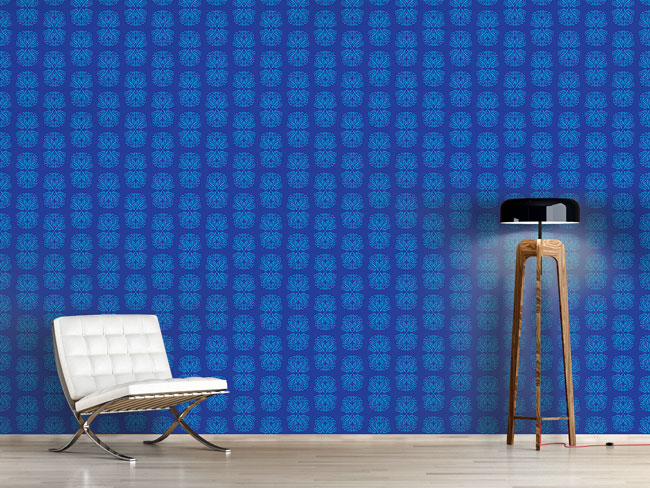 Designtapete Phönix In Blau