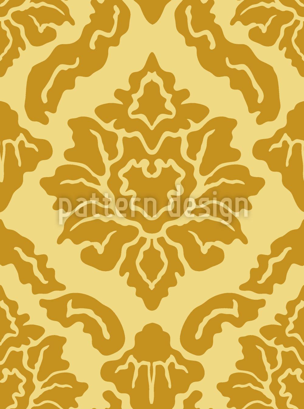 Designtapete Pop Barock Gold