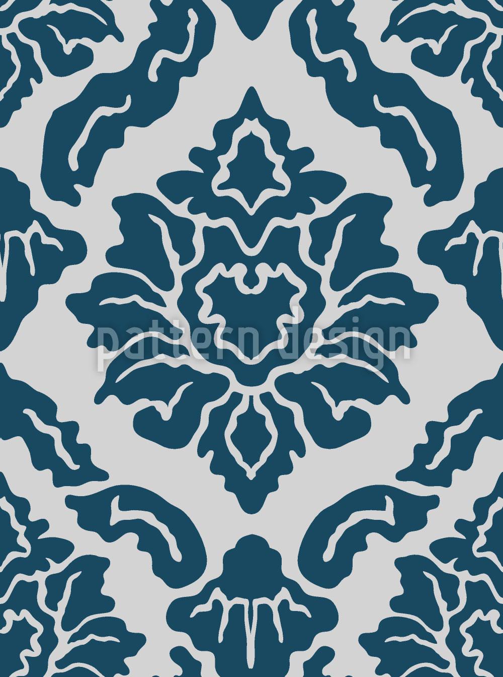 Designtapete Pop Barock Blau