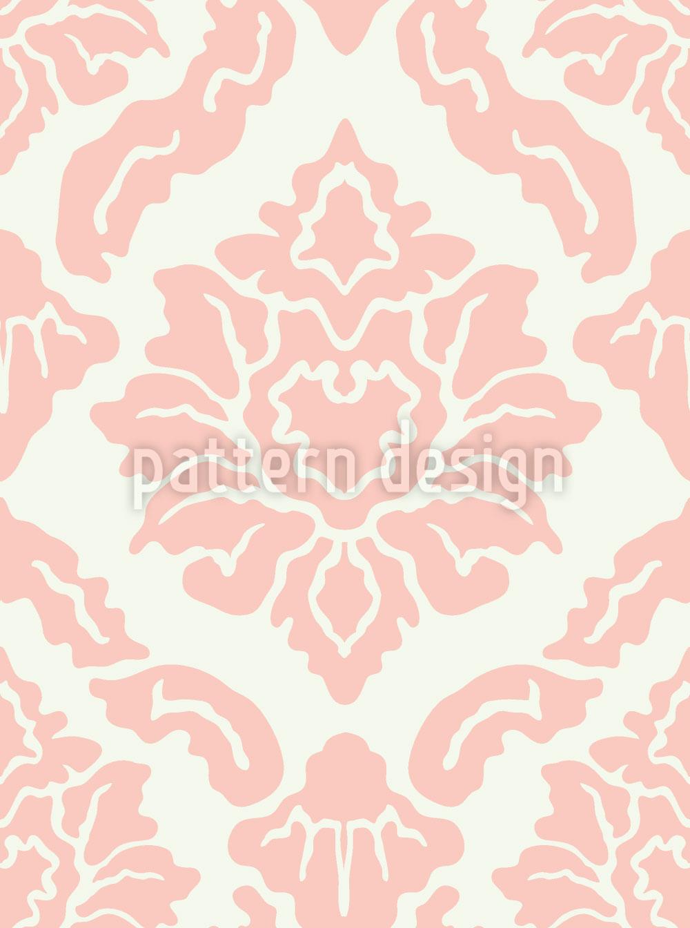 Designtapete Pop Barock Rosa
