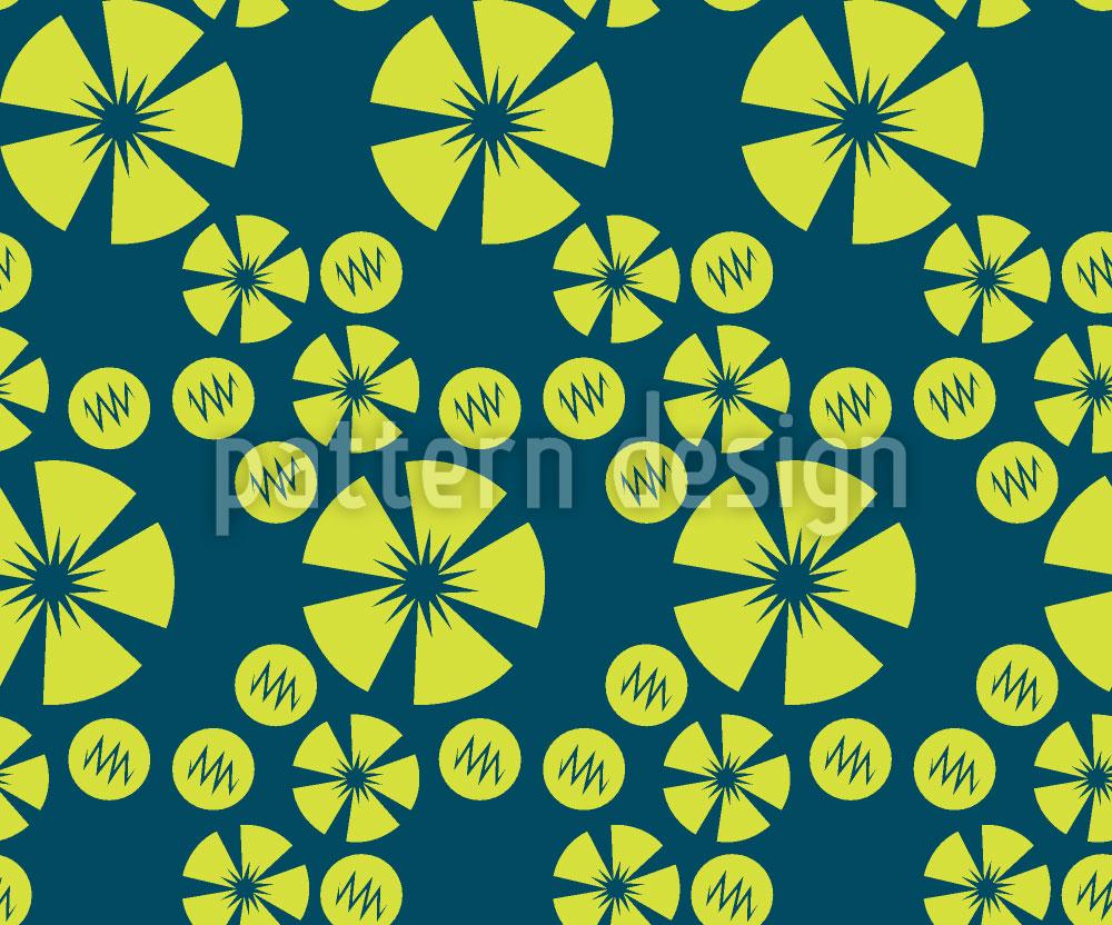 Designtapete Limo Blau