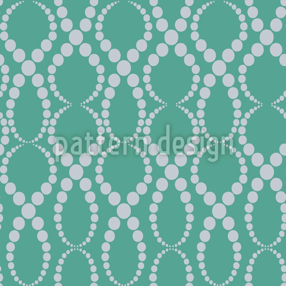 Designtapete Smaragd Perlen