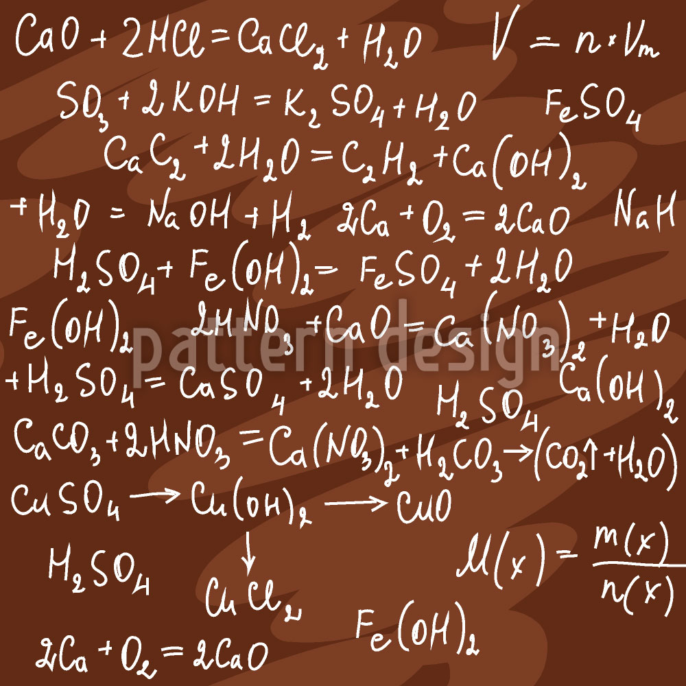 Designtapete Chemische Formeln