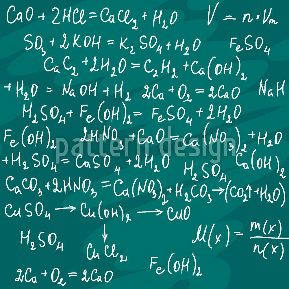 Designtapete Chemie Unterricht