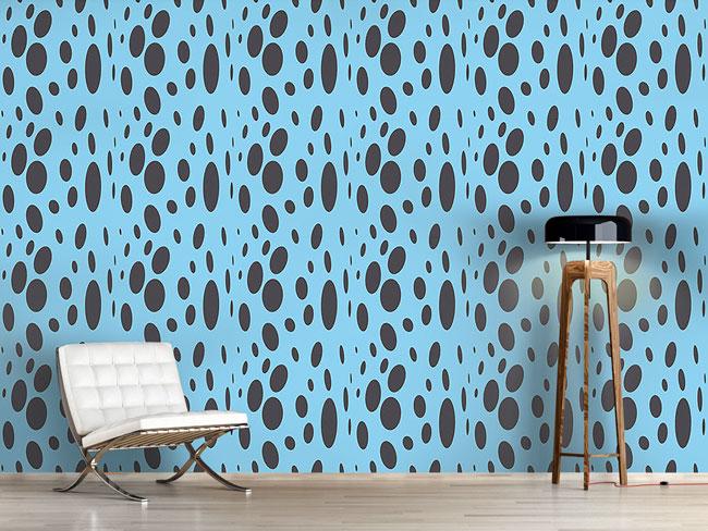 Designtapete Abstraktes Design mit Blasen