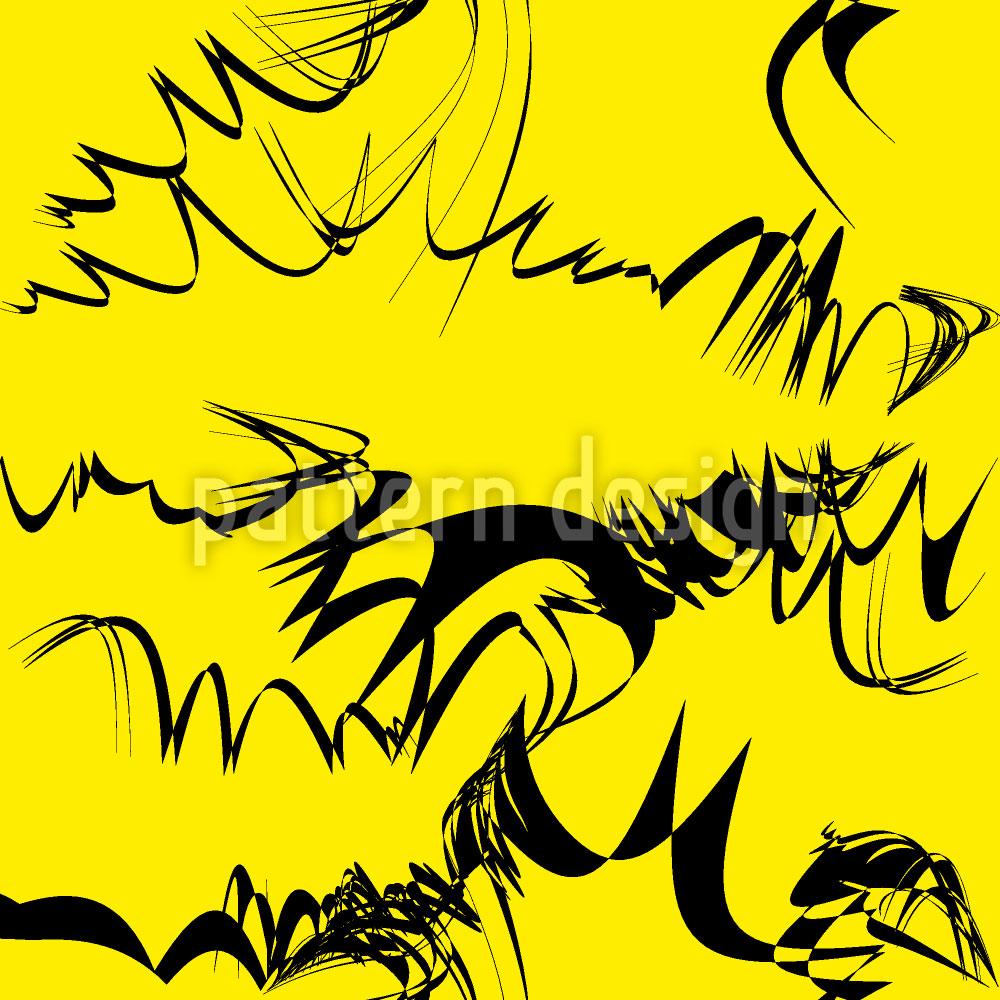 Designtapete Kalligrafie Auf Gelb