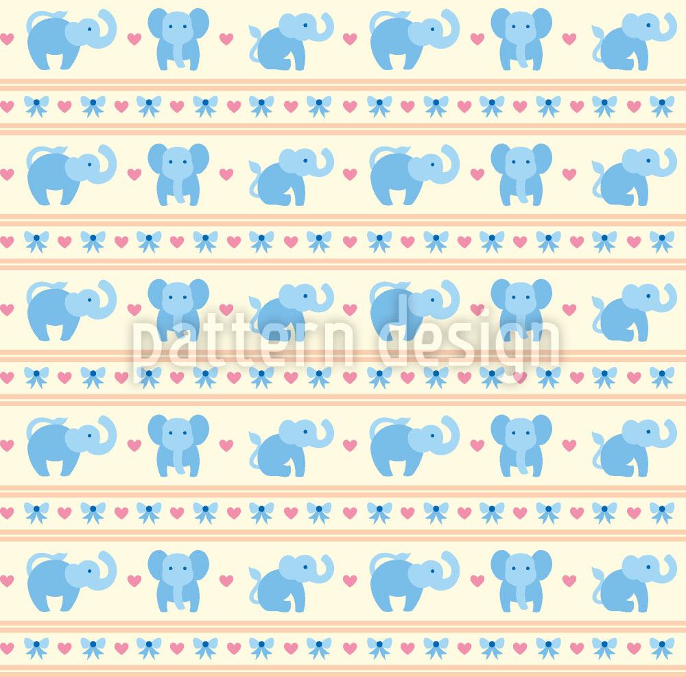 Designtapete Blaue Elefanten