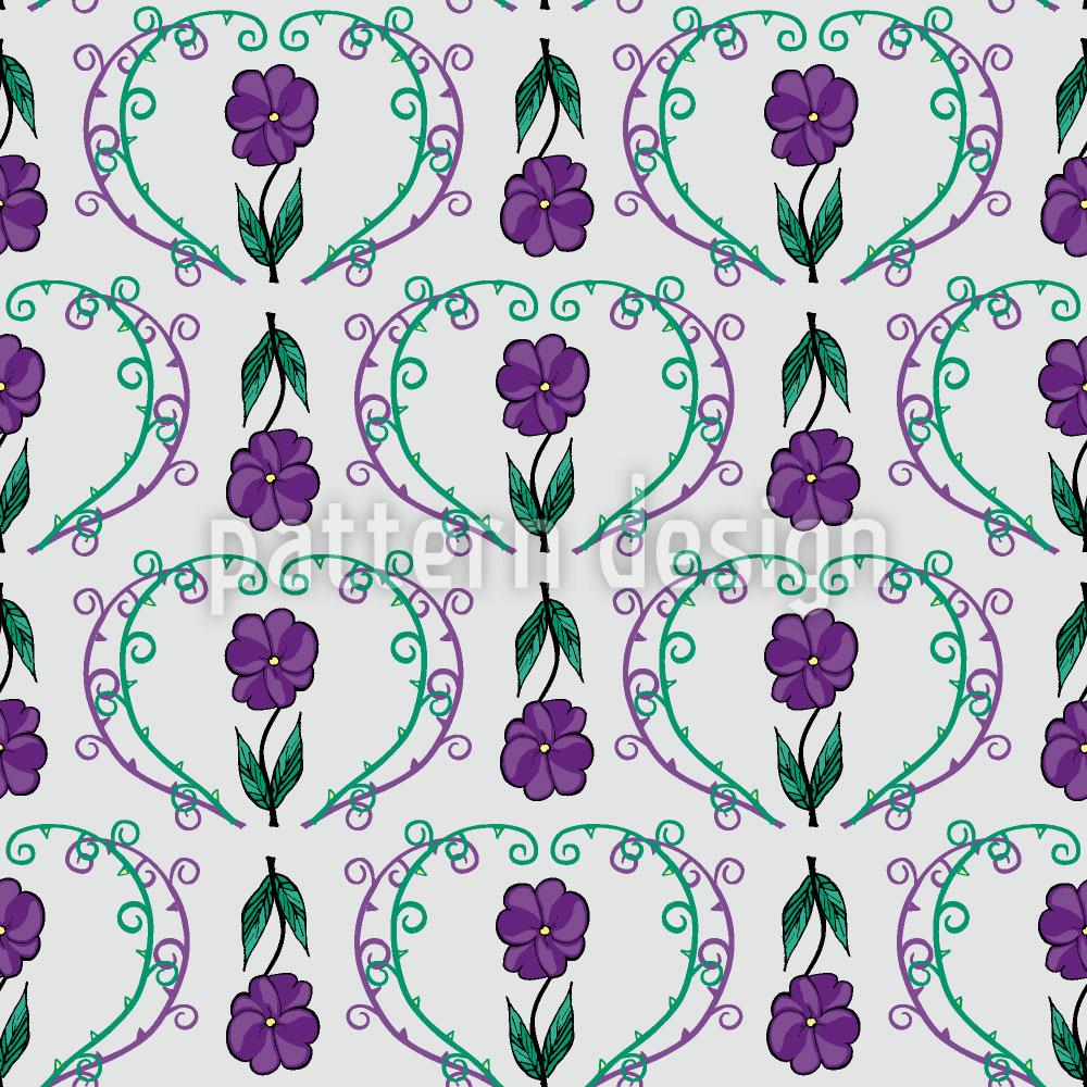 Designtapete Blumen Mit Ranken