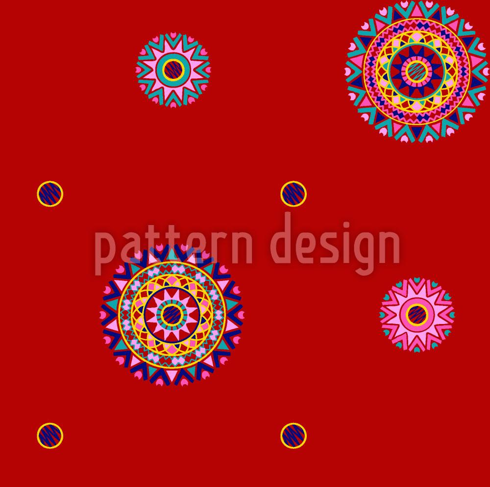 Designtapete Maharajahs Rot