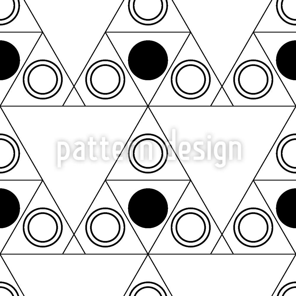 Designtapete Triple Dot Schwarz