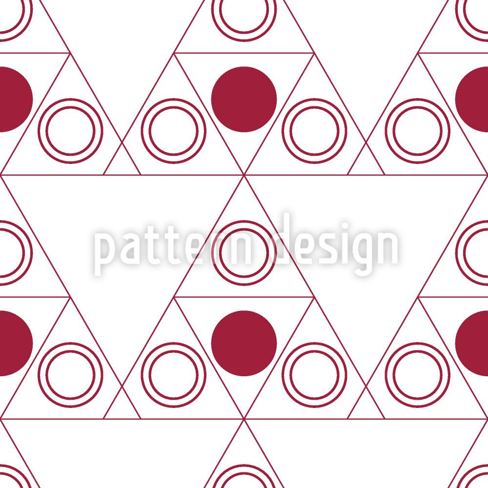 Designtapete Triple Dot Rot