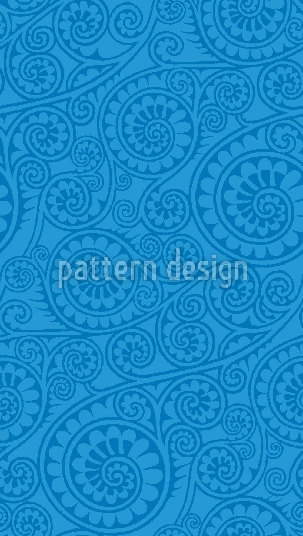 Designtapete Jodhpur Blau
