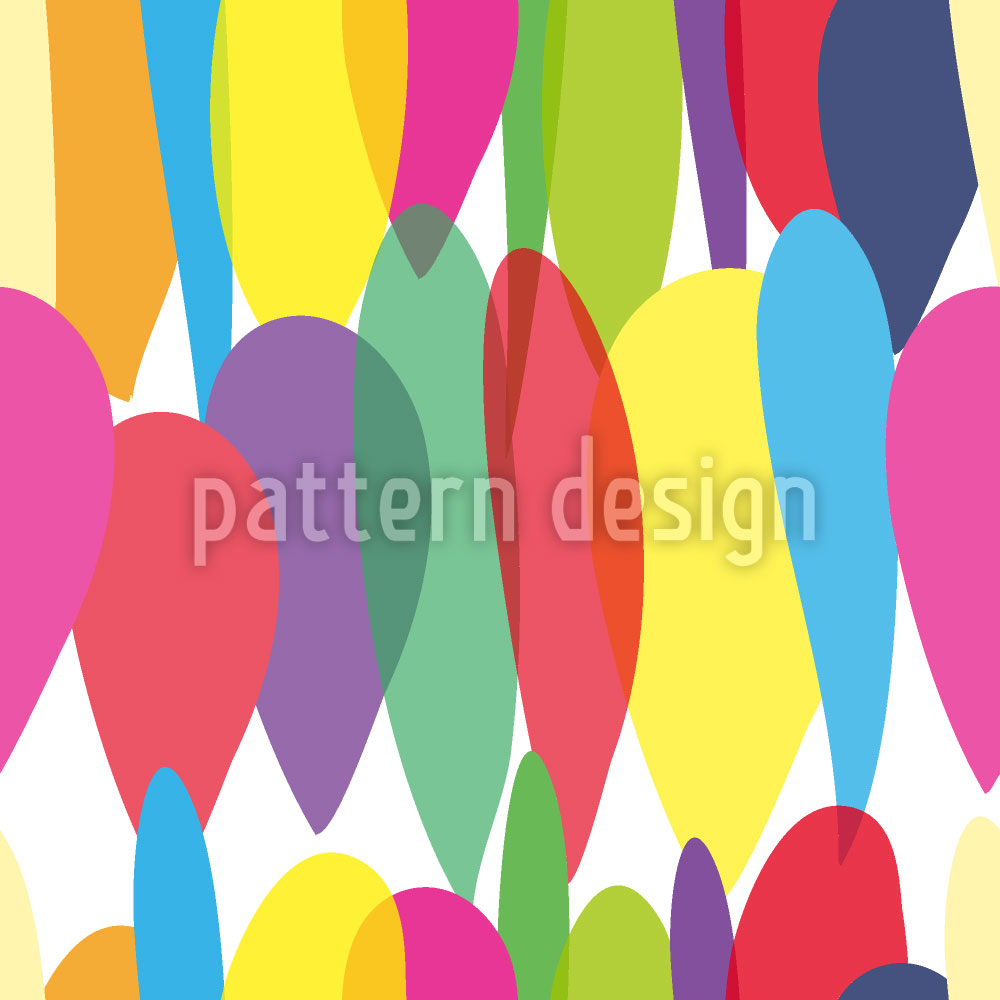 Designtapete Multi Luftballons