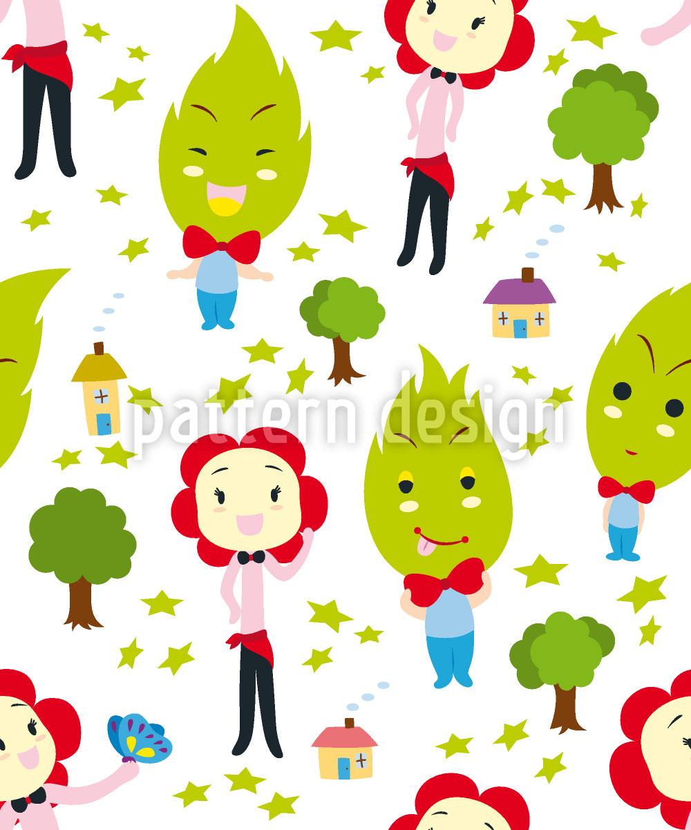 Designtapete Familiengrün