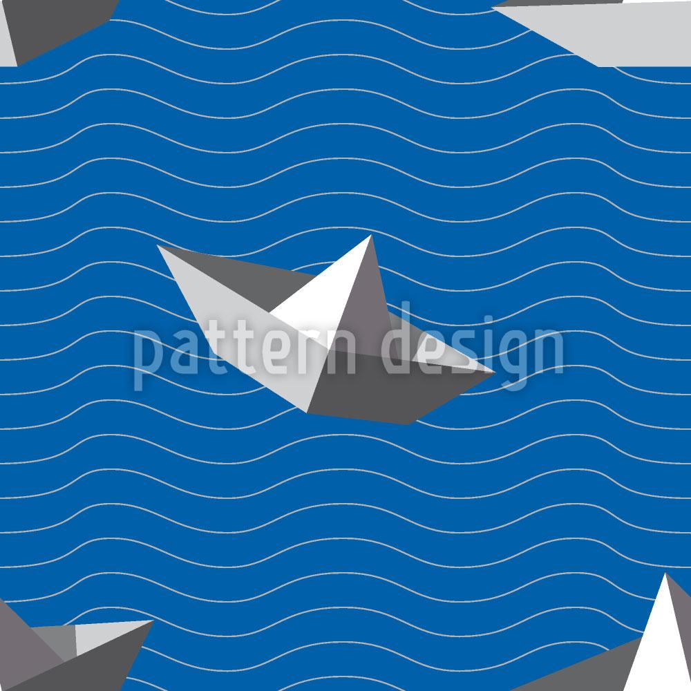 Designtapete Papierschiffchen