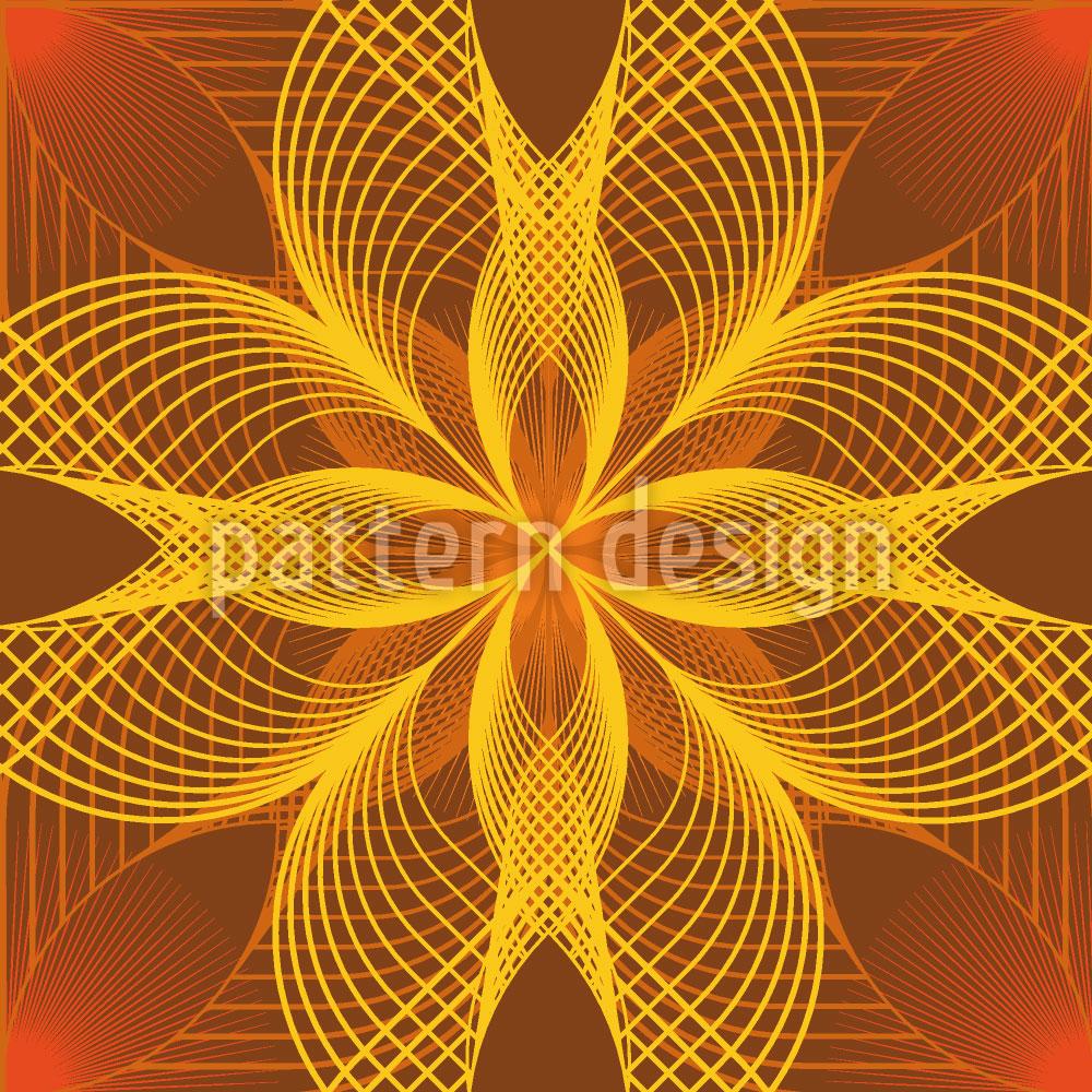 Designtapete Blumen Geometrie