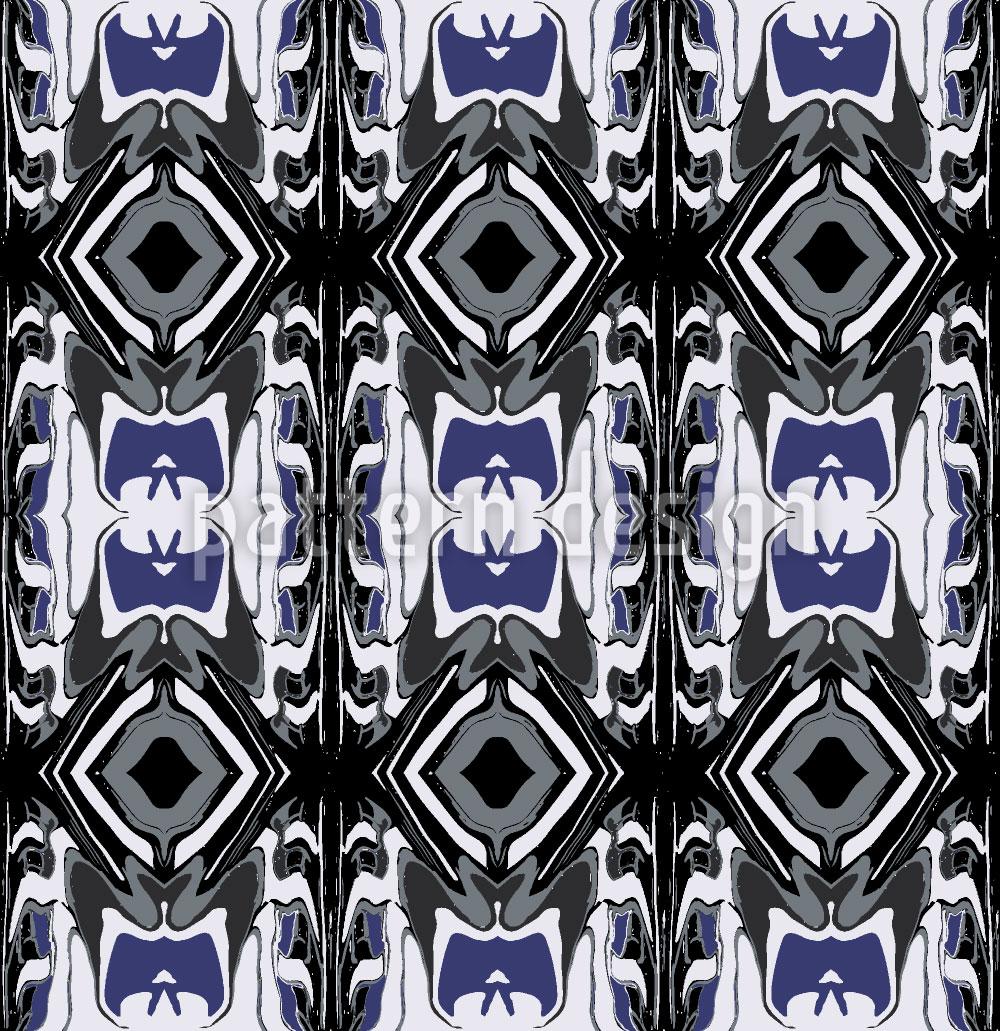 Designtapete Ultrasonic Blau
