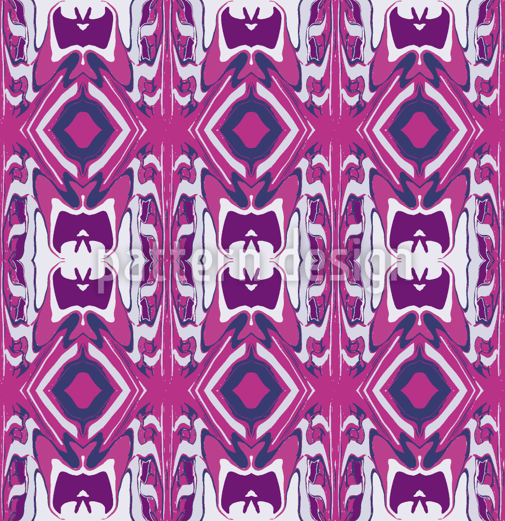 Designtapete Ultrasonic Pink