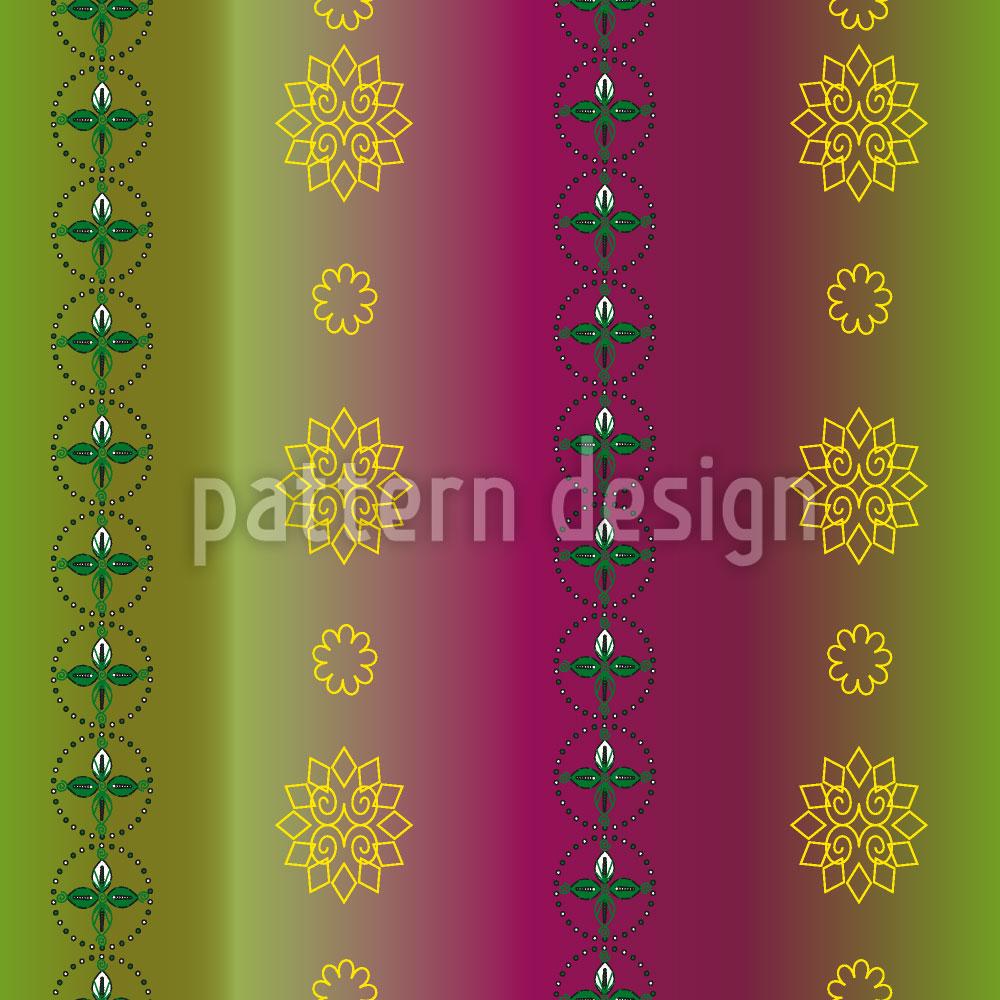 Designtapete Blumen Und Blätter