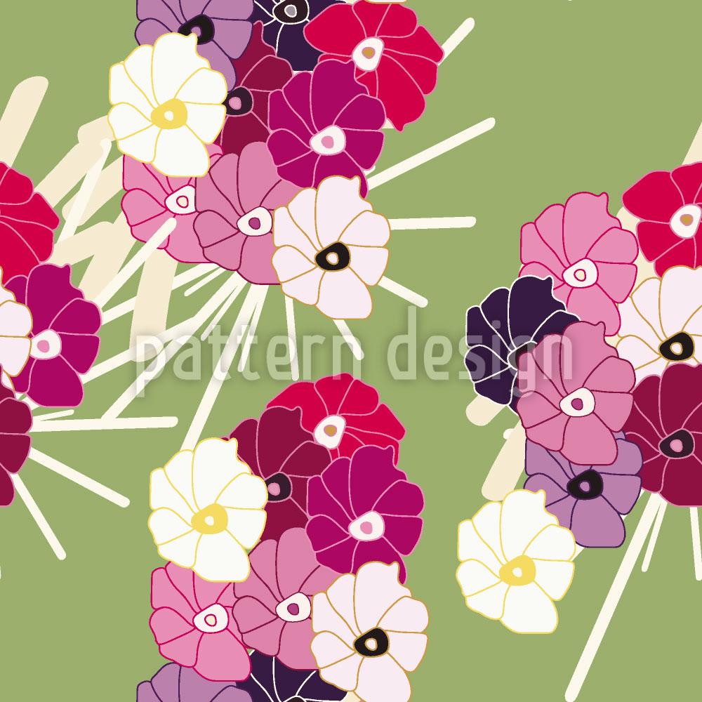 Designtapete Japanblumen