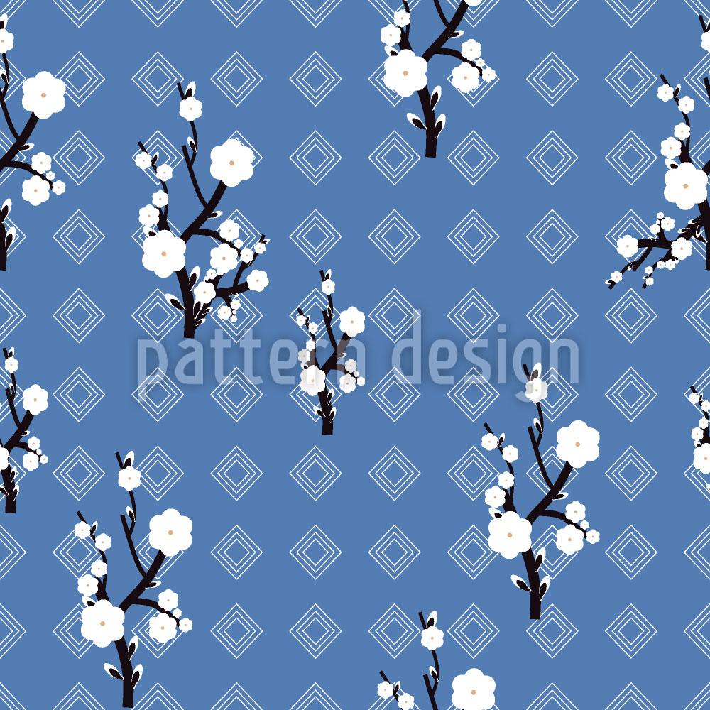 Designtapete Hanami Blau