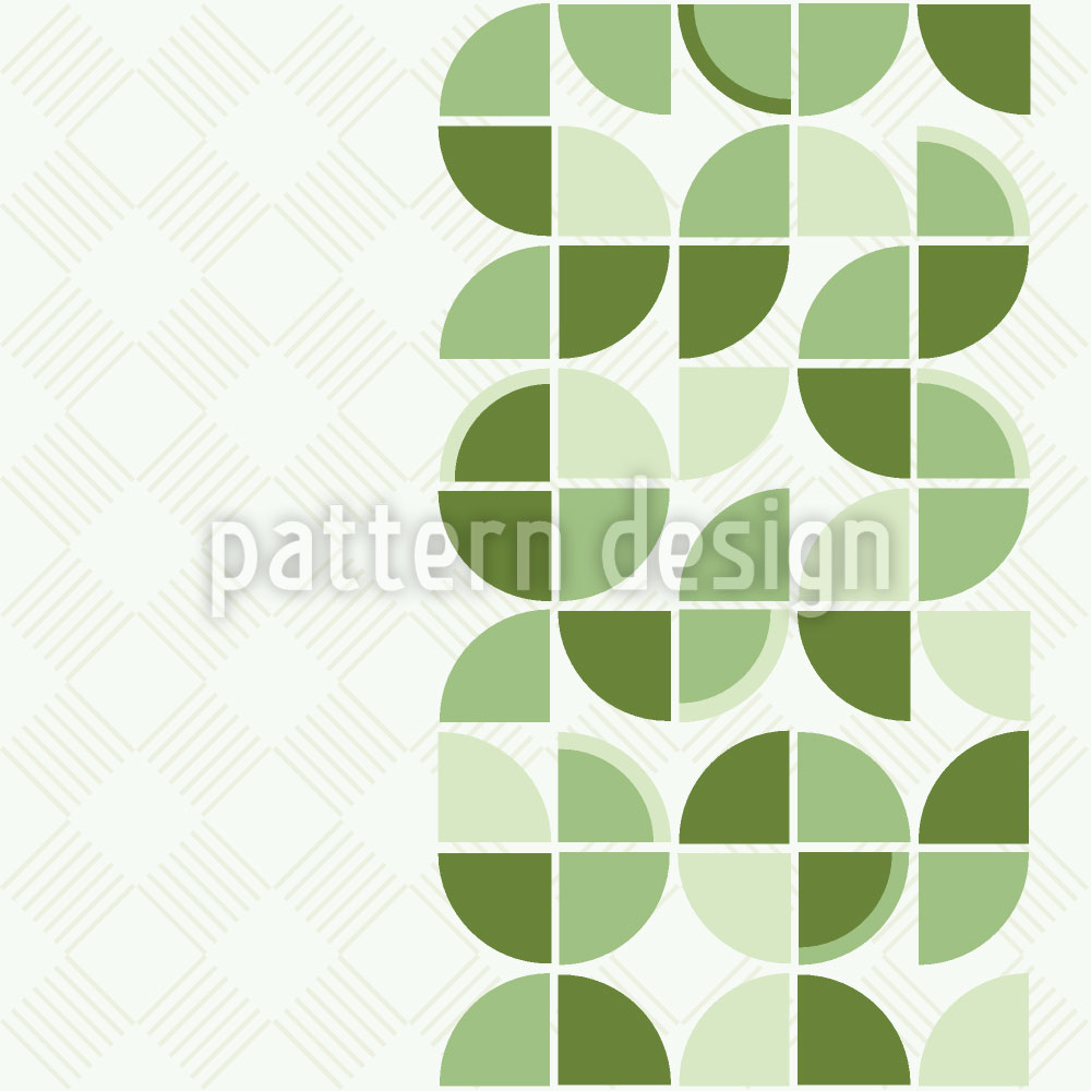 Designtapete Retropolis Grün