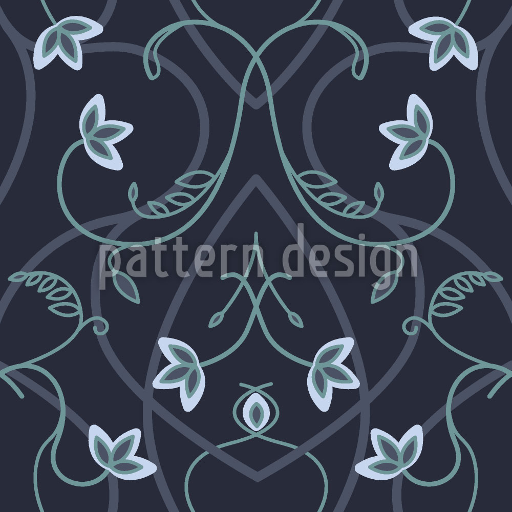 Designtapete Gotische Blumenfantasie