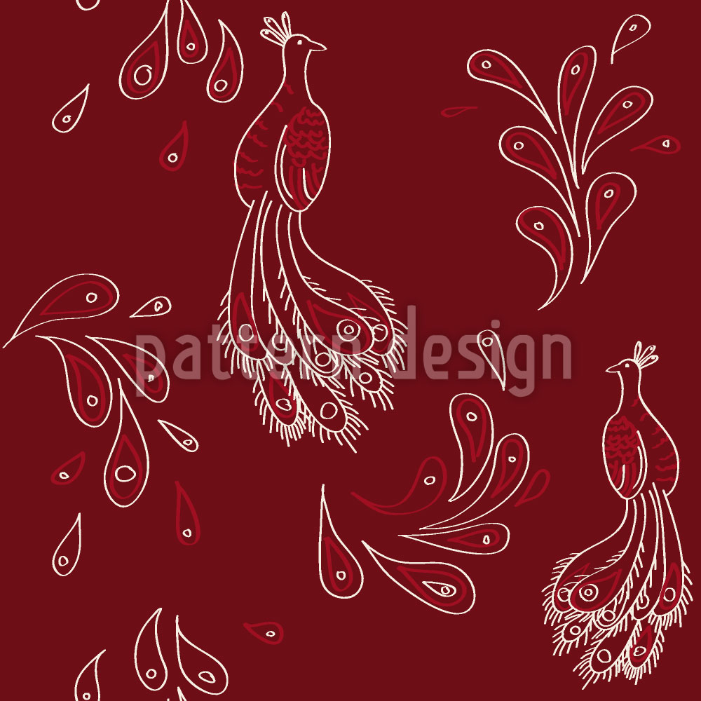 Designtapete Maharani Rot
