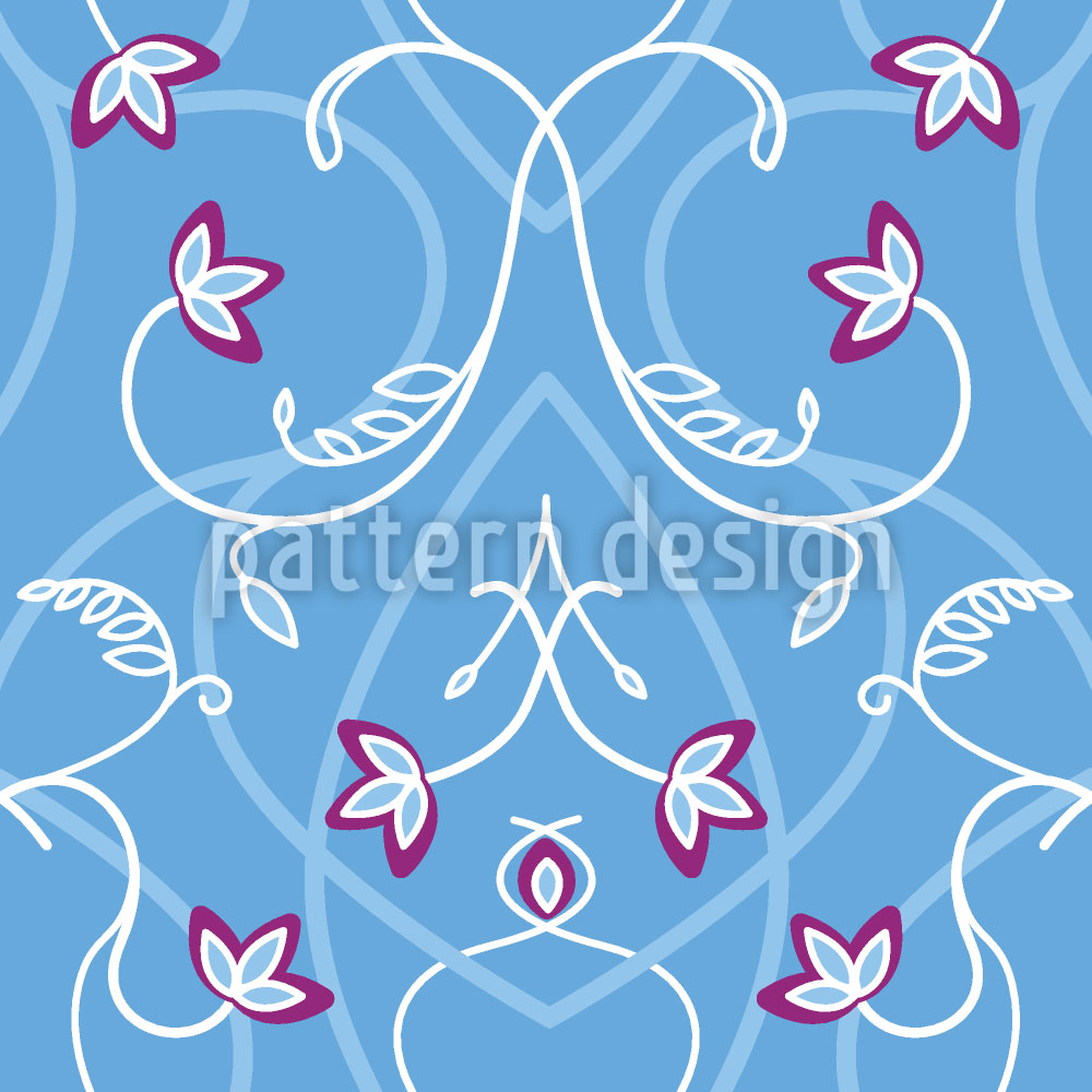 Designtapete Blumengeflecht Am Gotischen Tor