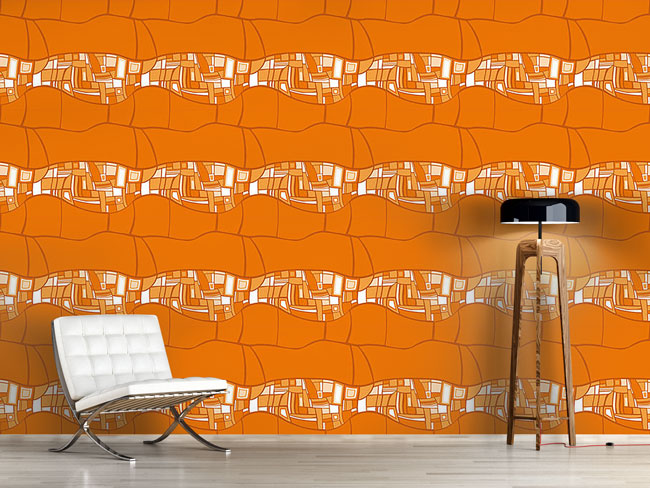 Designtapete Stilismo Orange