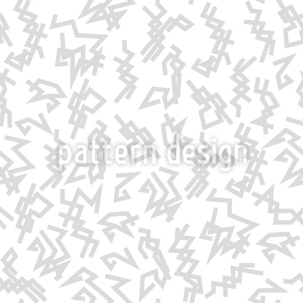 Designtapete Trigger Weiss