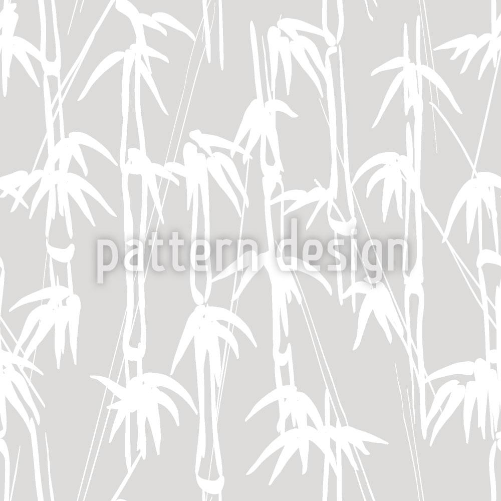 Designtapete Tusche Bambus