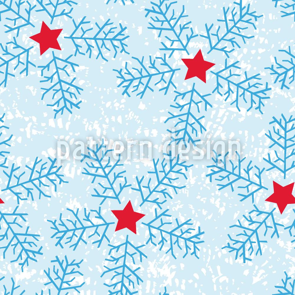 Designtapete Schneeflocken