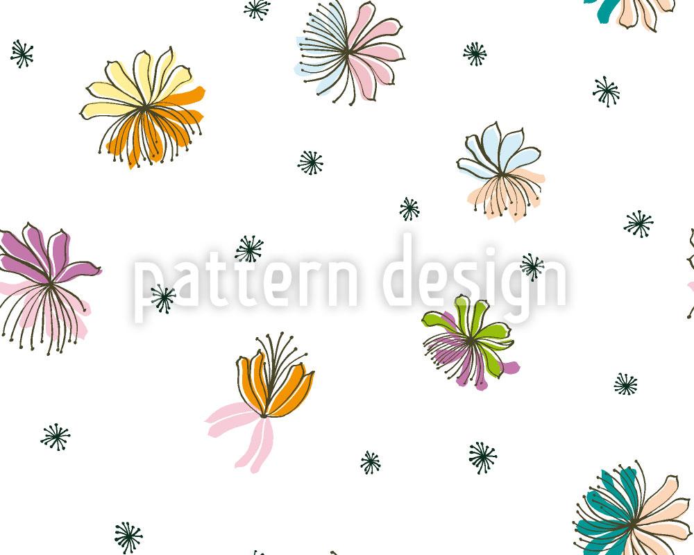 Designtapete Zierliche Blüten