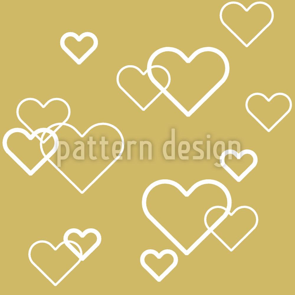 Designtapete Herz Aus Gold
