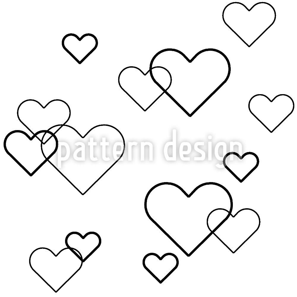 Designtapete Herz Los
