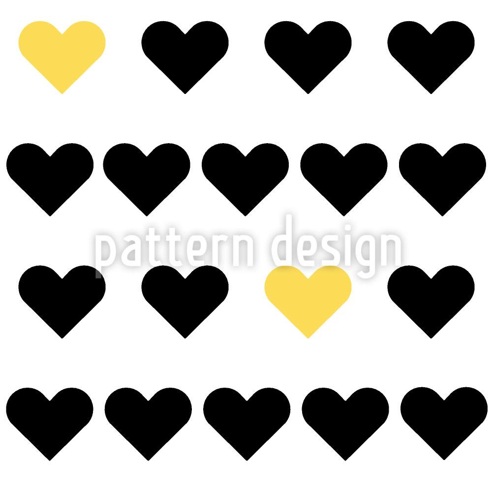 Designtapete Reine Herzen