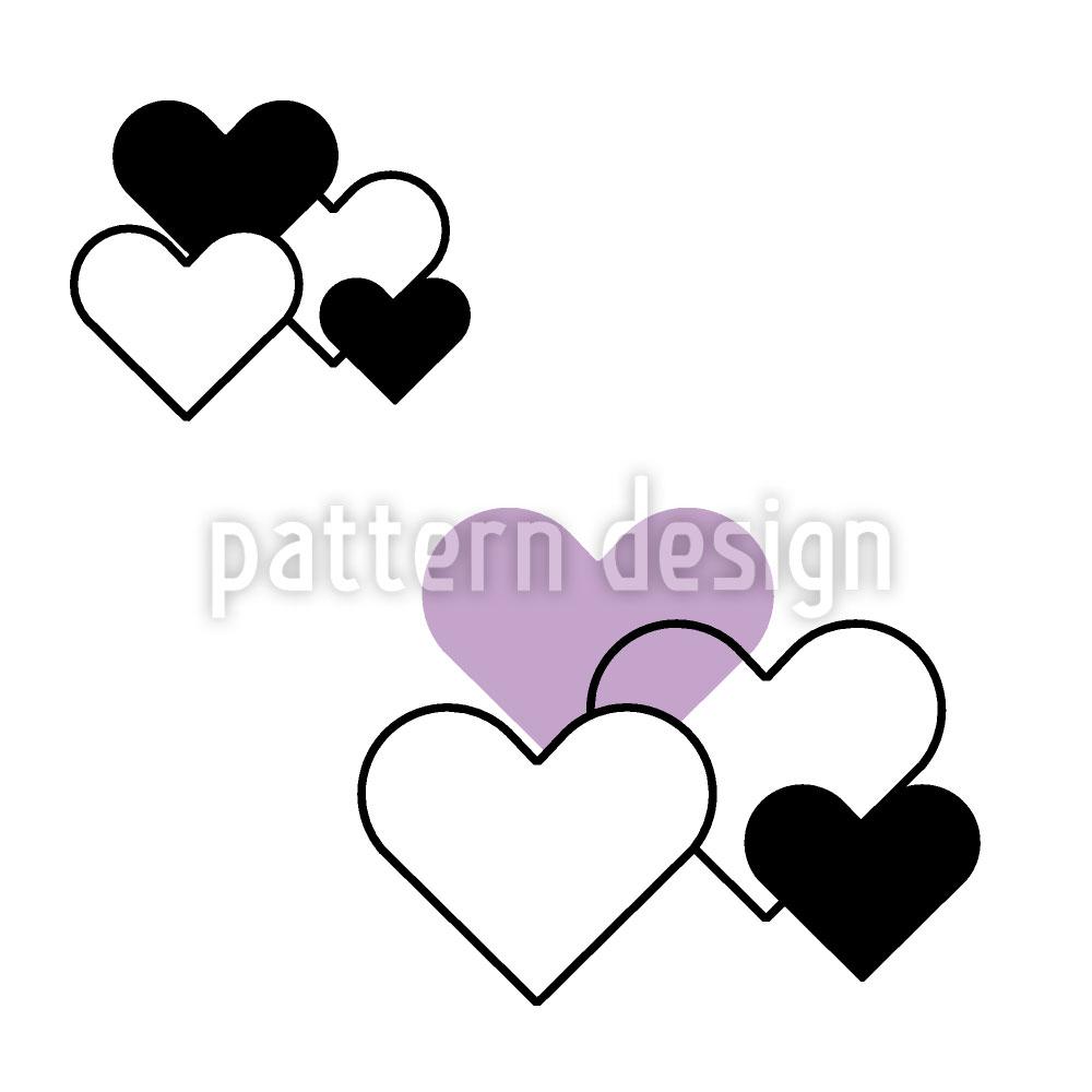 Designtapete Himmlische Herzen